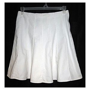 Vtg Jones New York White Denim Skirt 8